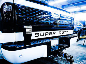 American Flag Tailgate Distressed Truck Vinyl Decal Platinum Ford Bed Graphic
