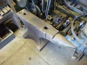 Large 339 Lbs Industrial Grade Blacksmith Anvil Twin Hardy Soho Pattern Wrought
