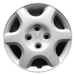 55043 Refinished Honda Civic 1998 2000 14 Inch Hubcap Cover Silver