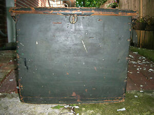 Antique Primitive 19th Century Chest With Early Paint