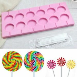 Silicone Lollipop Shape Mold Chocolate Candy  Sugarcraft Cake Mould Baking Tools