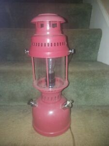 Barn Red Metal And Electric Lantern Long Cord Rustic Candle Wall Mounted