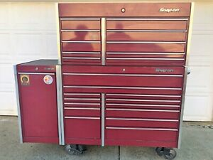 Snap On Tool Box Masters Series Roll Cab Top Box Side Power Drawer Usa