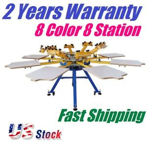 8 Color 8 Station Silk Screen Printing Equipment Screen Press T shirt Printing