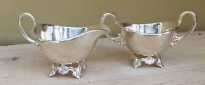 Petite Vintage Silverplate Cream And Sugar Set Made In Norway Nysolv
