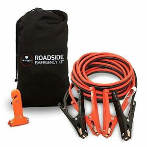New 20 Ft 4 Gauge Heavy Duty Power Booster Cable Emergency Car Jumper