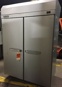Hobart Qf2 Commercial Reach In Side By Side Freezer On Wheels