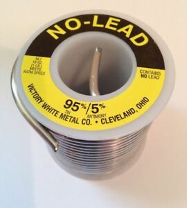 4 Rolls Solder 95 5 16 Oz Victory White Metal Co No Lead Free Shipping