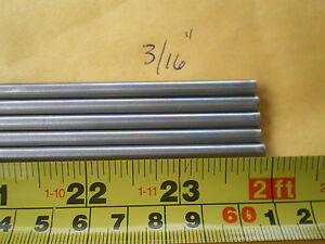 6 Stainless Steel Round Rod 304 3 16 192 4 88mm X 24 Long