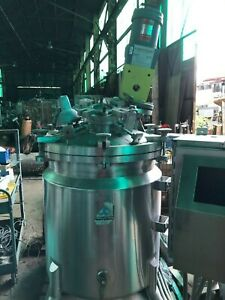 Cherry Burrel 50 Gallon Apx Sanitary Reactor Kettle With Tilt Out Agitator