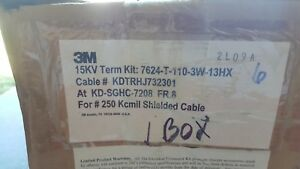 3m 15kv 7624 t 110 3w 13hx Cold Shrink Indoor Termination Kit Nos Factory Box