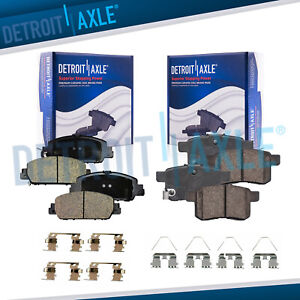 Front Rear Ceramic Brake Pads Hardware For 2013 2014 2017 Honda Accord No Lx