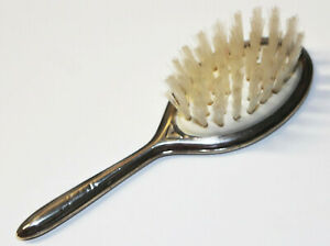 Vintage 1948 Lullaby Sterling Silver Infant Baby Oval Hair Brush 5 5 Floral 925
