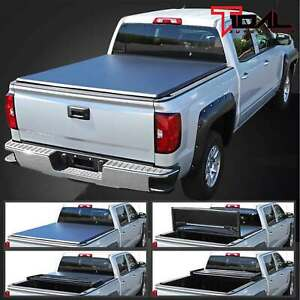 Eag 5 5ft 66 Short Size Truck Bed Tri Fold Tonneau Cover For 04 14 Ford F150
