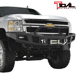 Eag 11 14 Chevy Silverado 2500 Front Winch Bumper With Led Lights Heavy Duty