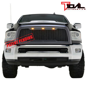 Tidal Full Replacement Honeycomb Led Grille Upper Grill Fit 10 12 Dodge Ram 2500
