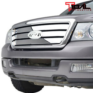 Tidal Upper Full Grill W Shell Chrome Replacement Grille Fit 04 08 Ford F150
