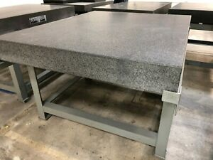 Precision 60x48x6 Gr A Granite Surface Plate W stand Current Calibration B345