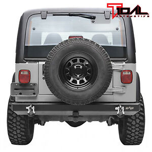 Tidal Rear Bumper With Hitch Receiver D Ring Fit 87 06 Jeep Wrangler Tj Yj