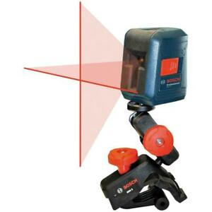 Bosch Gll 2 30 Ft Self leveling Cross line Laser Level With Clamping Moun