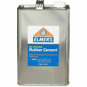 Elmer s Rubber Cement Acid free Photo Safe 1 Gallon Can Clear 234