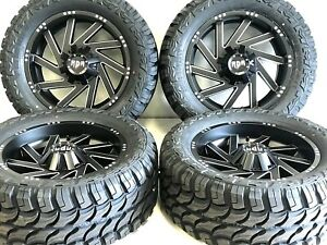 20x9 Rdr Offroad Wheels Tires Package Lt 33x1250 20 Mt Gmc Chevy Nissan Ford