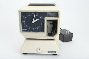 Amano Tcx 11 Time Clock Recorder Electronic Analog punch Box