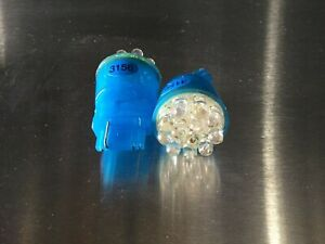 2pcs 3156 Led Blue Light Bulb12v