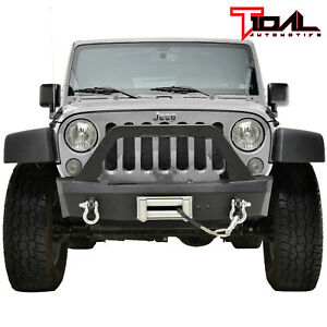 Tidal Front Bumper Stubby Offroad With D Rings Fit For 07 18 Jeep Wrangler Jk