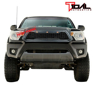 Tidal Replacement Led Grille Upper Gray Front Grill Fit 12 15 Toyota Tacoma