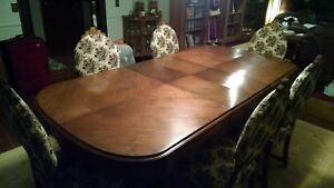 Antique Dining Room Set Table W Leaf Six Chairs Sideboard Buffett Table 1916