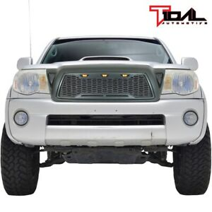 Replacement Upper Grille Led Front Hood Grill For 2005 2011 Toyota Tacoma