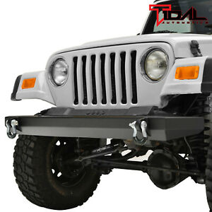 Tidal Black Textured Rock Crawler Front Bumper Fit 87 06 Jeep Wrangler Tj Yj