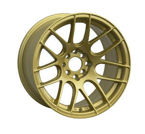 Xxr 530 17x7 4x100 114 3 Et35 Gold Wheels Set Of 4 Rims