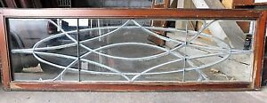 Antique Victorian Leaded Beveled Glass Window C 1895 Architectural Salvage