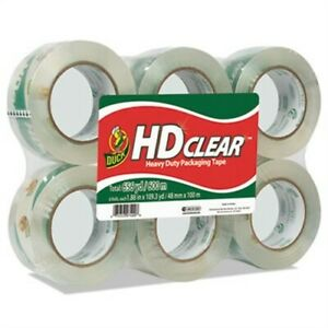 Heavy duty Carton Packaging Tape 1 88 X 110 Yards Clear 6 pack