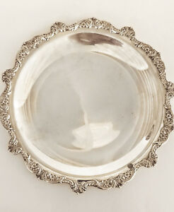 Vintage 15 Round Tray Platter Old English 5002 Silverplate Poole Silver