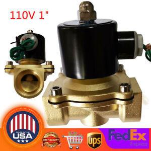 1 Electric Solenoid Valve Switch Water Air Fuel N c Npt Electromagnetic Valve