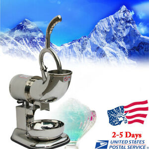 Ice Shaver Machine Sno Snow Cone Maker Shaved Icee Electric Crusher Home Usa