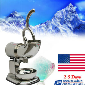 Ice Shaver Machine Sno Snow Cone Maker Shaved Icee Electric Crusher Us Stock