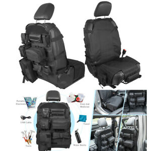 Front Back Seat Cover Organizer Tactical Molle Pouch Storage Bag Tool Kit Pocket