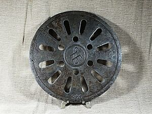 Antique Cast Iron Old Stove Pipe Flue Cover Grate Ventilator