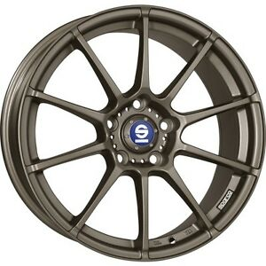 Alloy Wheels Sparco All Assetto Gara Bronze Smart Fortwo Forfour 453 16