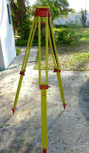 New Leica Gst120 9 Wooden Tripod Total Station Theodolite Level Laser 667301
