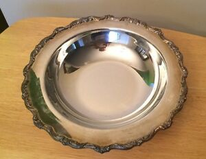 Epca Old English By Poole 5029 Footed Plate Bowl 12 Silver Plate