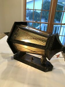 Amazing Antique Vintage Copper Outdoor Wall Light Fixture In Working Condition