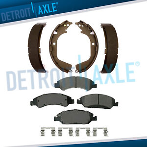 Front Ceramic Brake Pads Rear Shoes 2009 2013 Chevy Silverado Gmc Sierra 1500