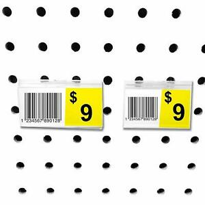 Pegboard Label Holder Scannable Upc Ticket Peg Wall Tag 2 Or 2 5 L X 1 25 H