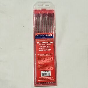 Tig Welding Tungsten Electrode 2 Thoriated Wt20 Red 3 32 X 7 Ewth 2 10 Pack