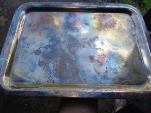 W M A Rogers Oneida Silversmith Tray With E
